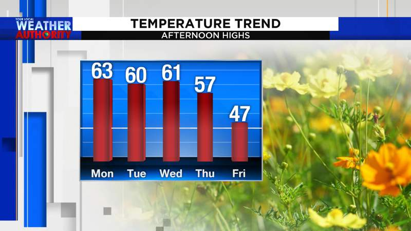 High temperatures in Roanoke the next 5 days