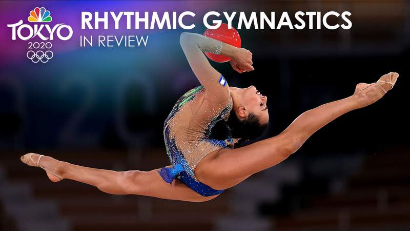 Linoy Ashram upset Dina Averina in the rhythmic gymnastics individual all-around final.