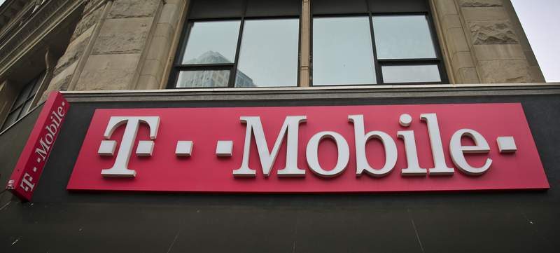 This photo shows signage a T-Mobile store in New York, Monday, April 30, 2018. On Wednesday, March 11, 2020, Californias Attorney General Xavier Becerra said that the state will not appeal a judges decision approving the merger of T-Mobile and Sprint. (AP Photo/Bebeto Matthews)