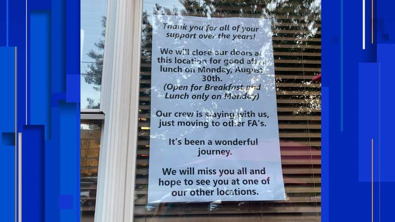 Famous Anthony's in Crystal Springs is closing its doors for good