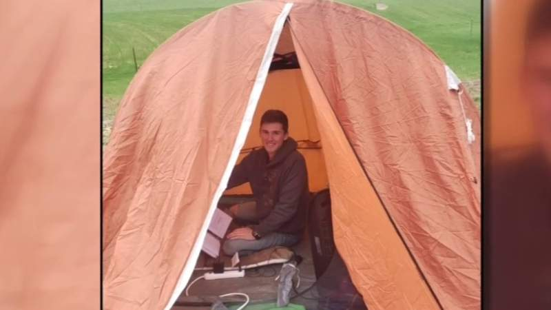 Lessons VMI cadet learned while learning virtually in a tent
