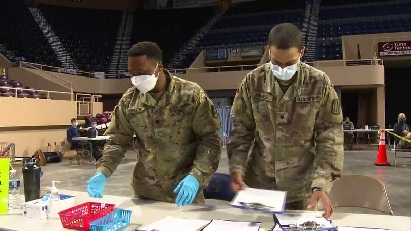 National Guard helps with mass vaccination clinics