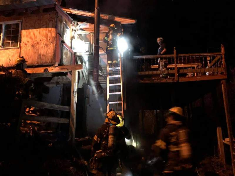 Three people were displaced after a house fire in Montgomery County