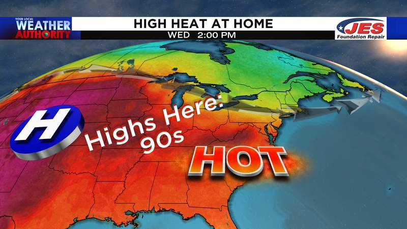High heat at home through at least Thursday