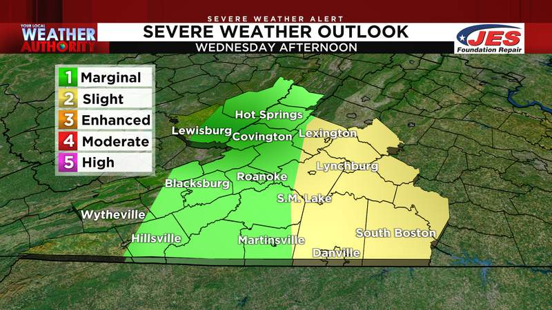 Severe weather outlook for Wednesday, 9/1/2021