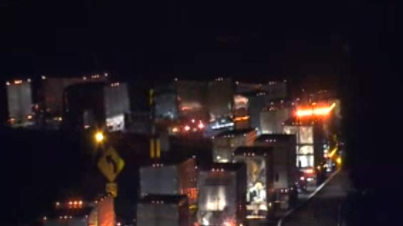 Tractor-trailer crash on I-81S causes delays in Botetourt County