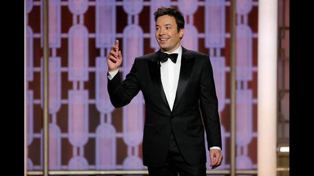 Host Jimmy Fallon presents during the 74th Annual Golden Globe Awards show in Beverly Hills, California, U.S., January 8, 2017 in this handout provided by NBC. Paul Drinkwater / Reuters