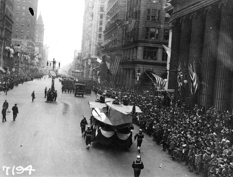 """In September 1918, Philadelphia held a planned Liberty Loan Parade to promote the government bonds that were being issued to pay for World War I. But the parade took place when the pandemic commonly called the """"Spanish flu"""" -- the H1N1 virus -- arrived in the city of 1.7 million people."""