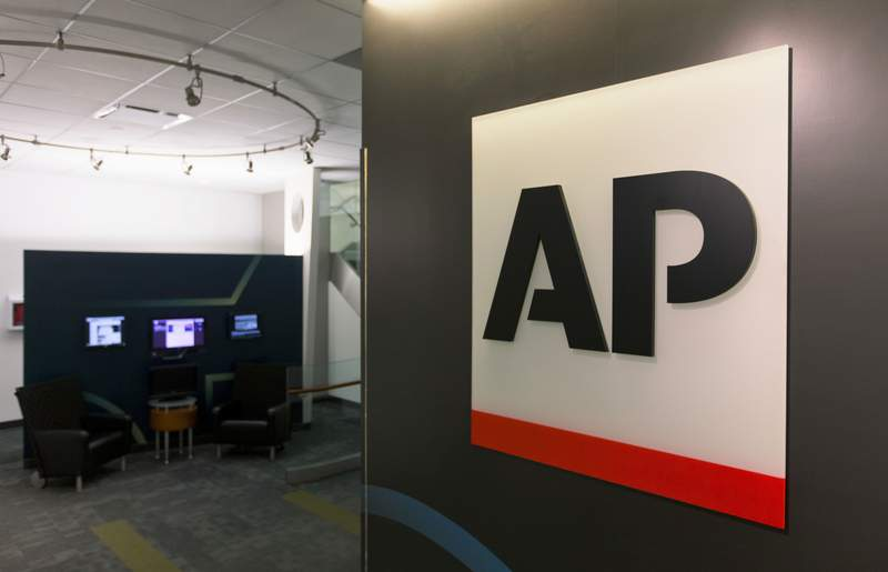 FILE - The Associated Press logo appears on April 26, 2016, in New York. The AP said Monday, May 24, 2021, that it will seek staff input and review its social media policies following last week's firing of a journalist who had expressed pro-Palestinian views. The move came after more than 100 journalists signed an open letter expressing concerns about the firing of the journalist roughly two weeks after she joined the AP. (AP Photo/Hiro Komae, File)