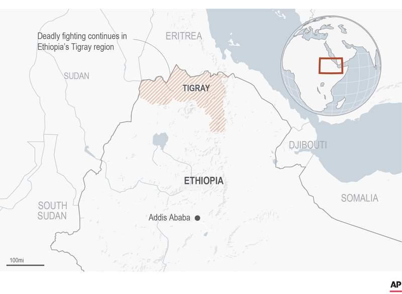 Map locates the Tigray area