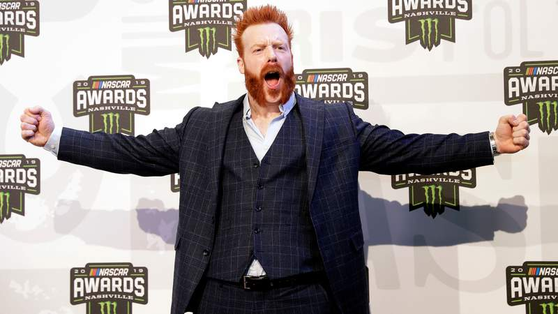 In this Dec. 5, 2019 file photo, professional wrestler and actor Sheamus arrives at the NASCAR Cup Series Awards in Nashville, Tenn. (AP Photo/Mark Humphrey, File)