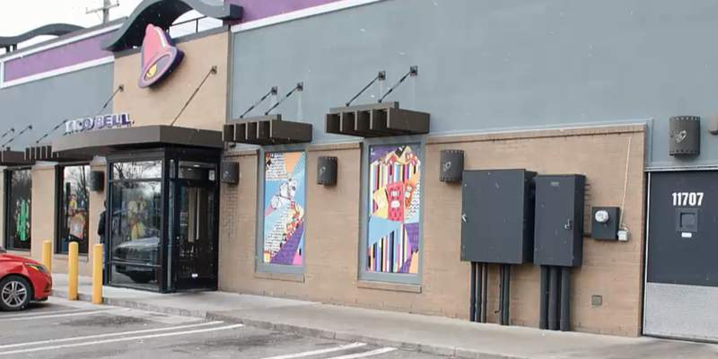 The Taco Bell at 11707 Merriman Road in Livonia.