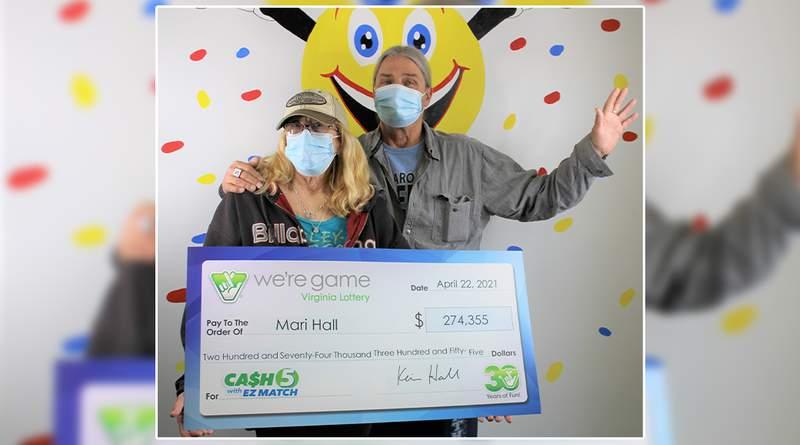 Pulaski woman hits the jackpot for $274,355 Virginia Lottery win