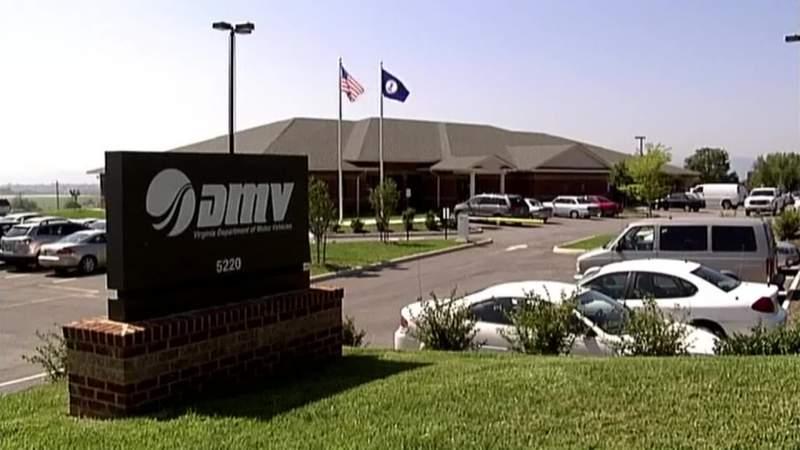 Virginia DMV office in Roanoke, Virginia