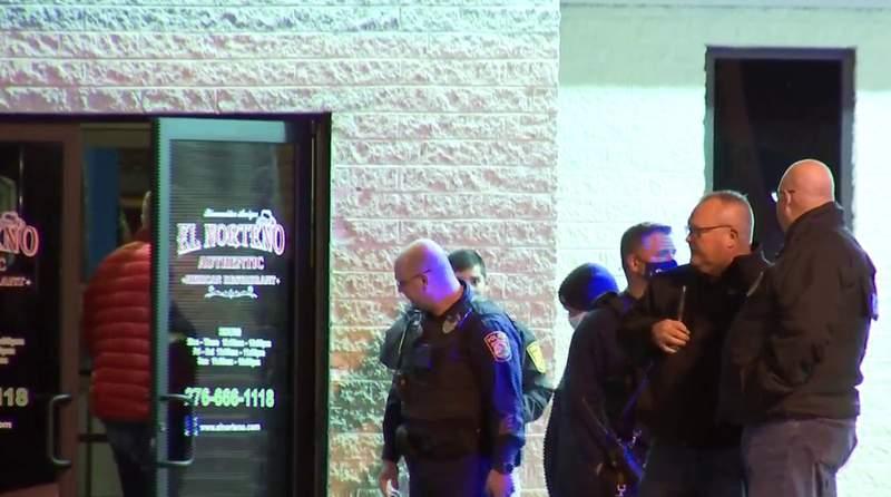 Police at El Norteno after deadly shooting on Jan. 5 2021