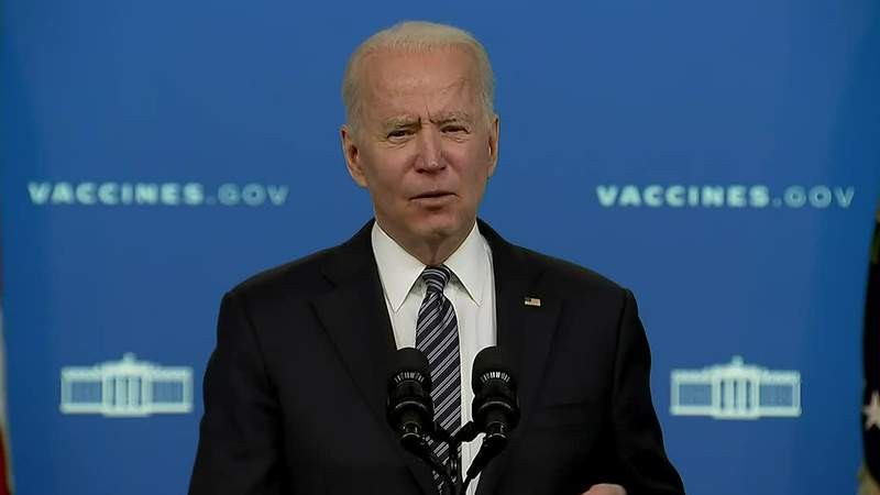 Pres. Joe Biden is set to speak about the U.S. COVID-19 response and vaccination program on Wednesday at 3:30 p.m.